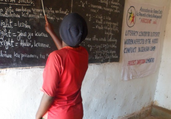 Literacy training in Malawi