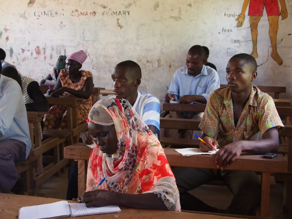 A literacy class in action in Kakuma Camp.