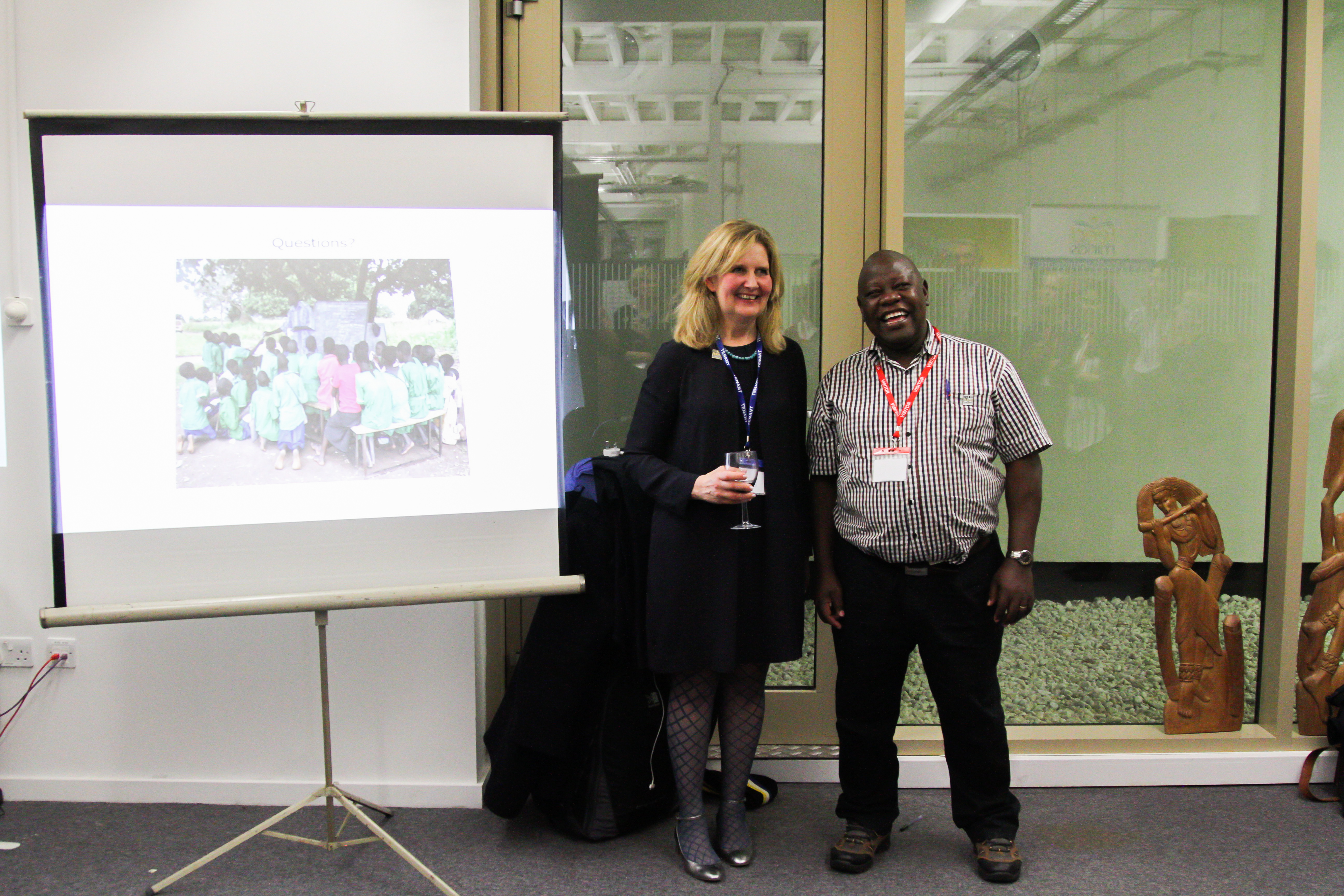 Josephine Carlsson (Director, Feed the Minds) and Benedict Male (Director, Voluntary Action for Development)