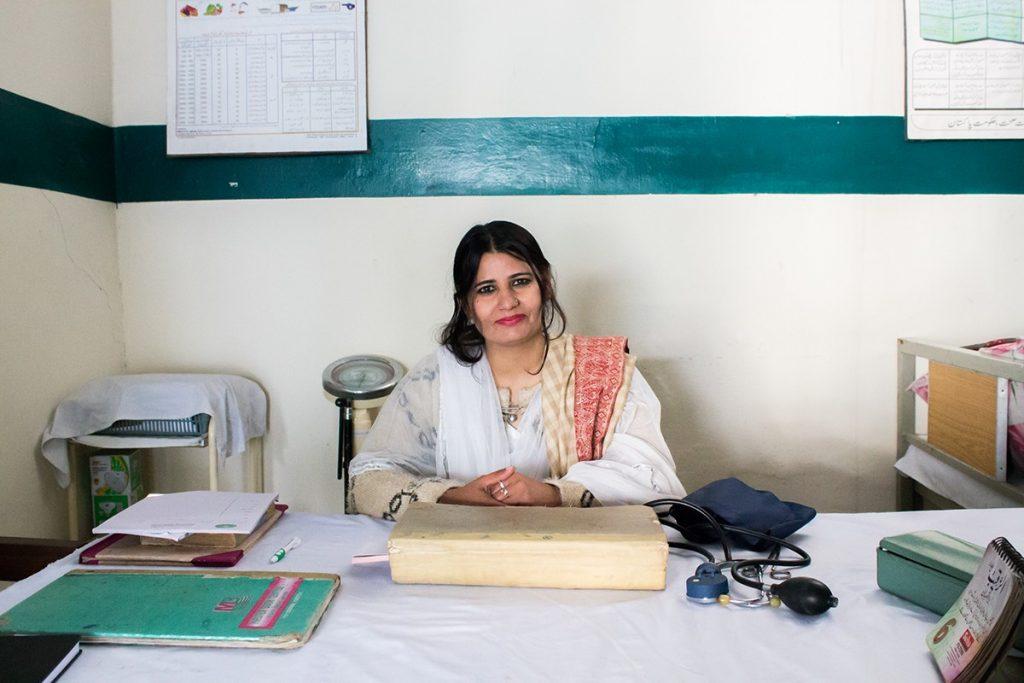Dr Sada in her practice.