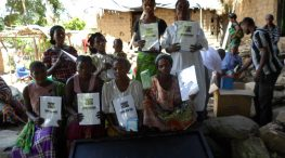 Women supported by our project in the Democratic Republic of Congo, through an economic empowerment project implemented by our local partner, FEDA.