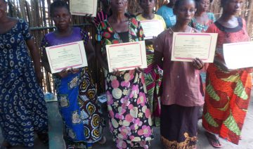 Some of the women supported by the project in DRC