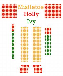 Seating plan - mistletoe, holly, ivy