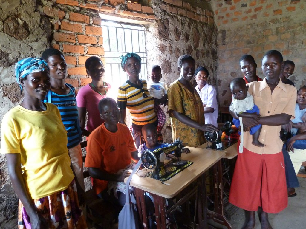 Pictured: some of the participants from our project in Uganda with local partner VAD.